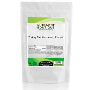 Turkey Tail Mushroom Extract 1000mg Bulk 100 servings 100gram Bag