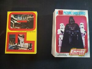 1980 Topps Star Wars Empire Strikes Back Series 1 165 Card set #1-132 + stickers