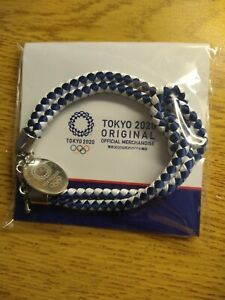 Official Tokyo 2020 Olympics Braid bracelet blue Made in Japan