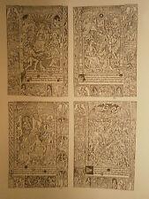 Planche gravure Religion Moyen age Heures à l'usage de Rome pour Simon Vostre 2