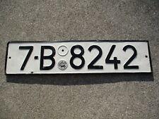 Romania older license plate  #  7 - B   8242