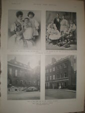 Printed photos first Lord of Treasury house Downing Street London 1896 Rf S