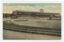 New Pavilion & Ball Park, Fair Grounds, Allentown, Pa. Early 1900s Postcard - VG