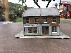 Card Buildings for Hornby OO Gauge Model Railway Train Sets Lot 10 Village Shop