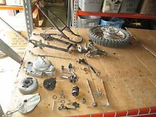 1974 Honda MR50 Rear Wheel w/ Sprocket & Brake Hub Flywheel Rear Frame Parts Lot