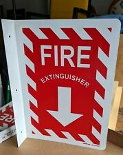 New listing Fire Extinguisher Arrow Metal Sign Industrial flanged double sided