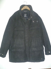 JOSEPH SIZE 52 UK XL MENS CHARCOAL GREY WOOL PEA COAT JACKET GOOD CONDITION
