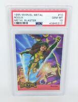 1995 Marvel Metal Metal Blaster #10 Rogue PSA GEM MINT 10