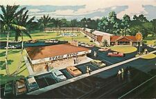 Silver Springs FL~Quality Inn and State Stop Restaurant~1960s Artist Conception