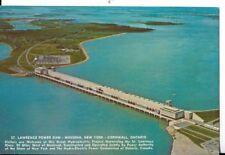 st lawrence power dam,mesina new york-cornwall ontario postcard
