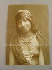 AK144, Foto, Akt, Erotik, NACKTE FRAU, Busen, Brüste, Dunkler Schönheit, um 1910