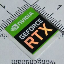 Original NVIDIA GEFORCE RTX STICKER 17mm x 18mm - Free Shipping