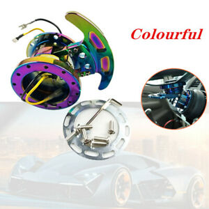 1PCS Steering Wheel Racing Flippable Quick Release Hub Adapter Body Removable
