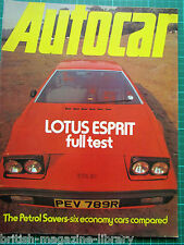 Autocar 15 Jan 1977 Argentine GP Test: Lotus Esprit - Mazda 323 Mercury Monarch