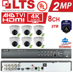 LTS 6 Cameras Security KIT / H.265/H.265+ / 1080P / 8 (2MP) Turret  / 2TB HDD
