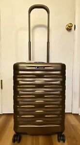 """Hartmann Excelsior Burnished Gold 22"""" Carry-On Spinner W/Interior Organization"""