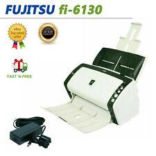 Fujitsu Fi-6130 Color Duplex Sheet-Fed Document Scanner Ac Adapter Trays Lot