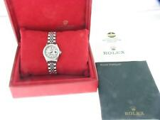 ROLEX DATEJUST LADIES STAINLESS STEEL DIAMOND WATCH OYSTER AUTOMATIC WATCH PAPER