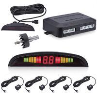 Car Parking Rear Reversing Sensors 4 Sensors Kit Audio Buzzer Alarm LED Display