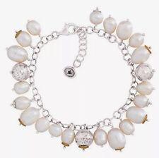 "❤️Silpada ""Flirt Alert"" B3328 Sterling Silver Pearl Brass Cha Cha Bracelet NWT"