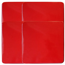 Set of 4 Square Gas Stove Burner Cover Set Increases Counter Space, Red, New