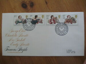 1980 FAMOUS PEOPLE GPO FIRST DAY COVER, INTERNATIONAL SOCIETY, MRS GASKELL H/S