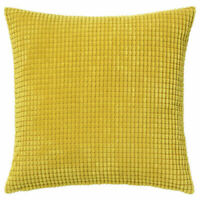 "Ikea GULLKLOCKA Pillow Cushion Cover Chenille 20"" x 20"" Yellow Brand NEW"