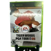 Tiger Woods PGA Tour 06 Microsoft Xbox Complete Game Case Manual Mint Condition