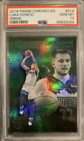 POP 9 PSA 10 RC Luka Doncic 2018-19 Chronicles Essentials GREEN HOLO #214 Rookie