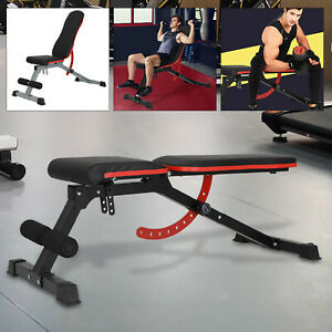 350kg Adjustable Weight Bench Dumbbell Fitness Incline Decline Sit up Gym Home