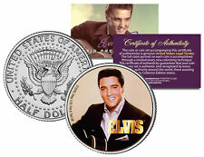 "Elvis Presley ""Black Blazer"" JFK Kennedy Half Dollar US Coin *Licensed*"