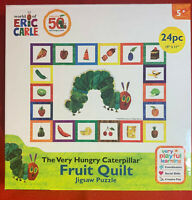 Eric Carle The Very Hungry Caterpillar Fruit Quilt 24pc Jigsaw Puzzle Brand New