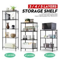 3/4/5 Tier Steel Wire Shelving Unit Metal Rack Home Kitchen Storage Holder Shelf