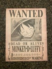 One Piece EMPERORS Luffy Wanted Poster Set x6 HIGH QUALITY Anime Bounties Yonko