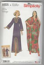 Simplicity Sewing Pattern 8505 Miss Vintage 1970's Caftans Sz 10-20