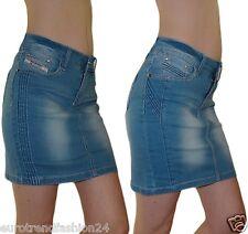 Damen Mini Rock Stretch Jeans Mädchen Bleistiftrock 34