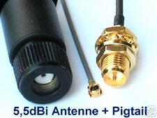 AVM Fritz!Box Fon Wlan Pigtail + 5,5dBi RP-SMA Antenne