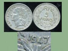 5 francs LAVRILLIER 1947   (  le 9 fermé  )