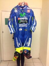 one piece racing leathers blue white