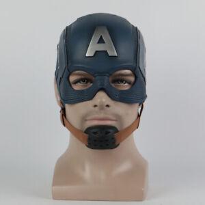 New Captain America Mask Cosplay  Superhero Mask Soft PVC Helmet
