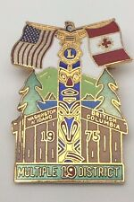 Vintage Lions Club Multiple 19 District Washington British Columbia N. Pin B957