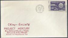 11/10/61 Rare Launch of Chimp Goliath Project Mercury Cover!!!