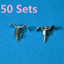 50 Sets Chrome Finish Guitar String Tree Guide Retainer with Screws & Spacers