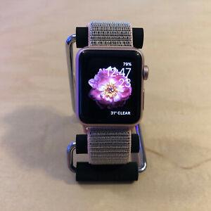 *Apple Watch Series 1 38mm Rose Gold Aluminum Case - Pink Nylon Loop*