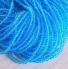 """Transp Lt Aqua 6/0 Czech Seed Beads, 4mm Preciosa Aqua Blue Seed Beads, 3/20"""""""
