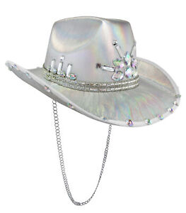 Iridescent Jewels Gems Gay Pride Festival Bachelorette Party Cowgirl Cowboy Hat