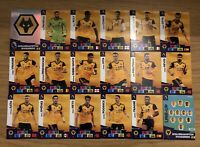 PANINI ADRENALYN XL PREMIER LEAGUE 2020/21 TEAM SET OF ALL 18 WOLVES CARDS