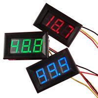 Mini Voltmeter Tester Digital Voltage Test DC 0-30V Pro Car Kit Red Auto K3H2