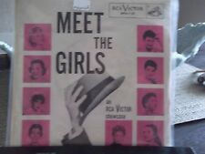 45) *PICTURE SLEEVE*MEET THE GIRLS LENA HORNE,DINAH SHORE ETC,ON RCA RECORDS