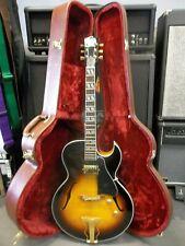 BURNY RFA-75 ES175 hollow Electric Guitar. Pro. Setup. Hard case. New Warranteed